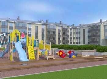 Детская площадка во внутреннем дворе